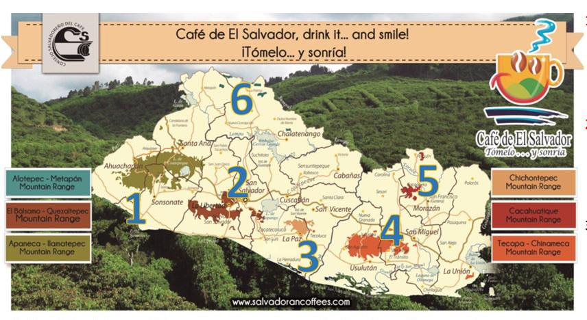 Zonas Cafetaleras de El Salvador